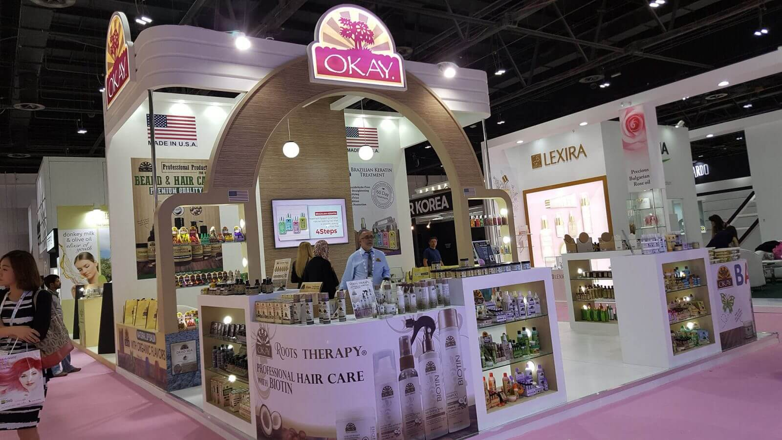 Beauty world 2017 exhibition dubai exhibition stand for Expo stand